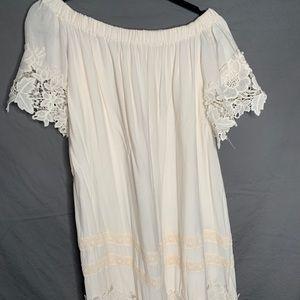 Altar'd State White Off the Shoulder Dress